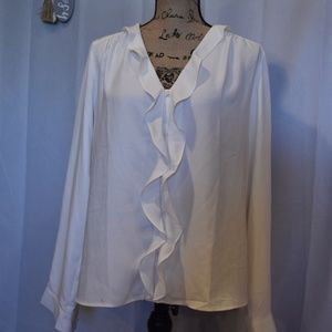 Ann Taylor Factory | Cream Blouse